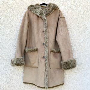 Jones New York reversible faux fur/soft suede coat
